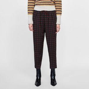 NWT Zara Size XS Geometric Print Pants